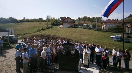 Откривен и освештан споменик у Миросавцима