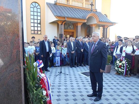 Бања Лука - Откривен споменик за 115 погинулих бораца ВРС