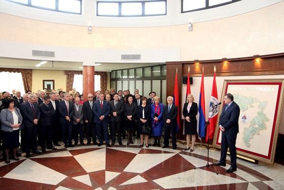 Делегација БОРС-а на свечаном пријему код Предсједника Републике