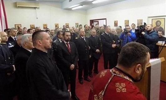 """Руководство БОРС-а на Божићном пријему у касарни """"Козара"""""""