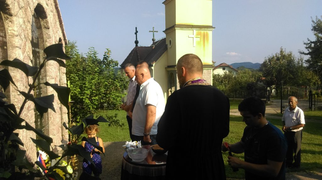 Парастос погинулим војницима и цивилима у Бошковићима